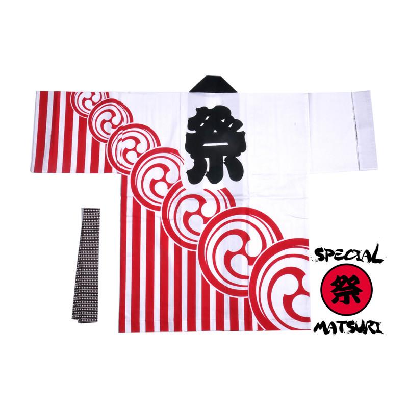 Japanese cotton coulour choice haori jacket for matsuri festival kamon