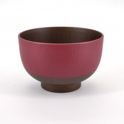 japanese bowl for miso soup, NIHON, red