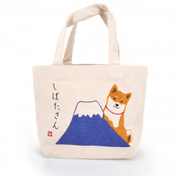 Japanese cotton tote bag, FUJI, dog and mount