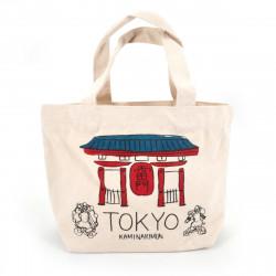 Japanese single tote bag cotton TOKYO 20x30cm