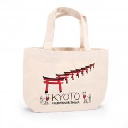 Borsa giapponese Tote bag KYOTO 20x30cm in cotone