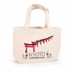 Sac Tote bag japonais KYOTO 20x30cm en coton