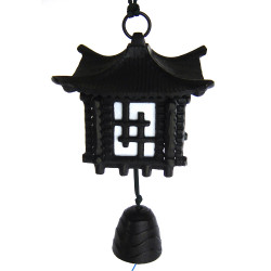 japanese cast iron wind bell, AZEKURA, black