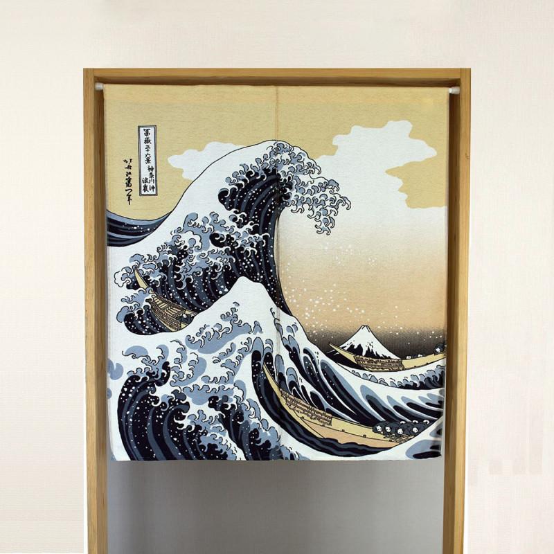 cortina japonesa azula de poliester, SHIRANAMI, ola