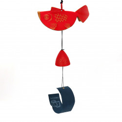 japanese cast iron wind bell, IWACHU, goldfish