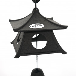 japanese cast iron wind bell, IWACHU, pagoda