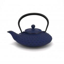 Japanese teapot cast iron, IWACHU KAMBIN 0,5lt, blue