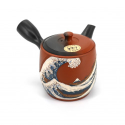 japanische kyusu rote teekanne tokoname welle SHIRYU