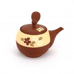japanese red kyusu teapot made of terracotta tokoname YAKIBA