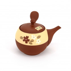 japanische rote kyusu teekanne tokoname YAKIBA