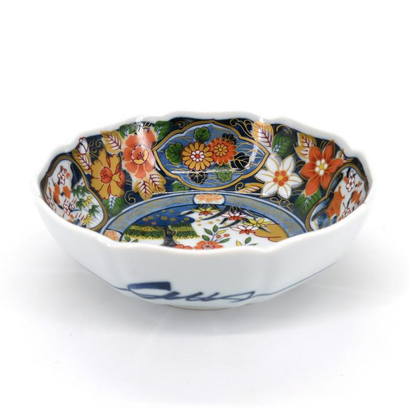 Japanese flat bowl Arita KOEN, flowers