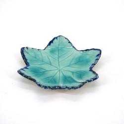 kleiner japanischer blattförmig teller, MOMIJI, blau