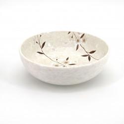 tazón de sopa japonés de cerámica, HIWA, flores
