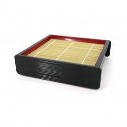 Holztablett für japanische Nudeln Soba Udon, ZARU, Bambusmatte