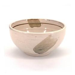 tazón de sopa japonés de cerámica, SHIRO, blanco