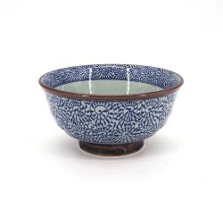 Tazón japonés de ceramica para fideos, TAKO KARAKUSA, azul