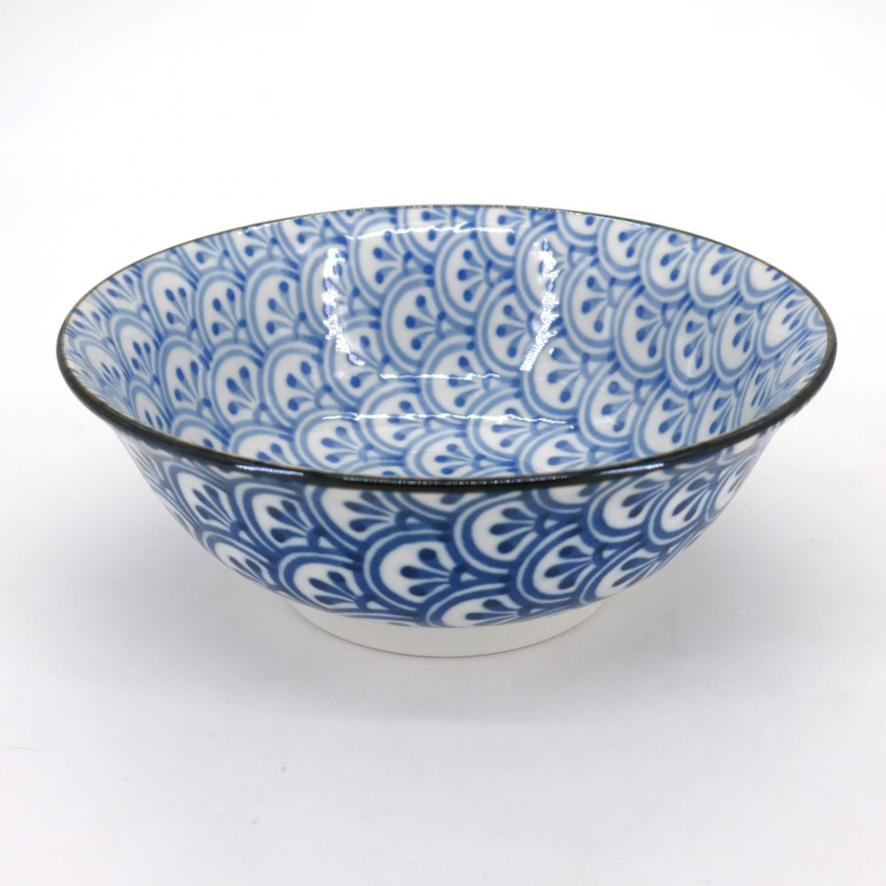 japanese noodle ramen bowl, SEIGAIHA, wave