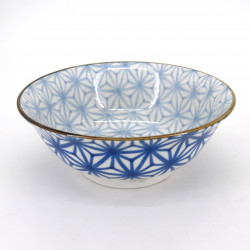japanese blue ramen bowl, ASANOHA, stars