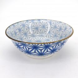 Japanische blau Ramenschüssel, ASANOHA, Sterne