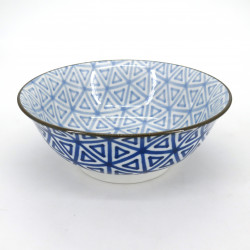 japanese blue ramen bowl, SANKAKU, triangles