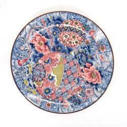 grand plat avec motifs colorés en céramique TEMARI