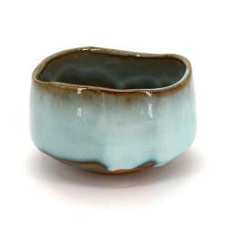 bol japonais à cérémonie du thé - chawan, MASHIKO, bleu ciel