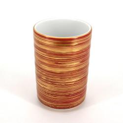 grande tasse rouge doré japonaise MAKI en céramique