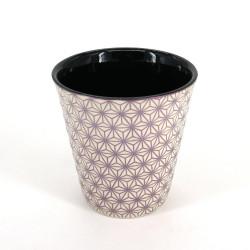 tasse à thé japonaise en céramique ASANOHA beige et rose
