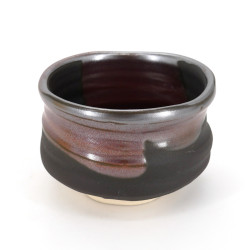 Japanische Teeschale für Zeremonie, KURO, schwarz