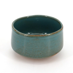 Japanese tea bowl for ceremony, BURU, blue