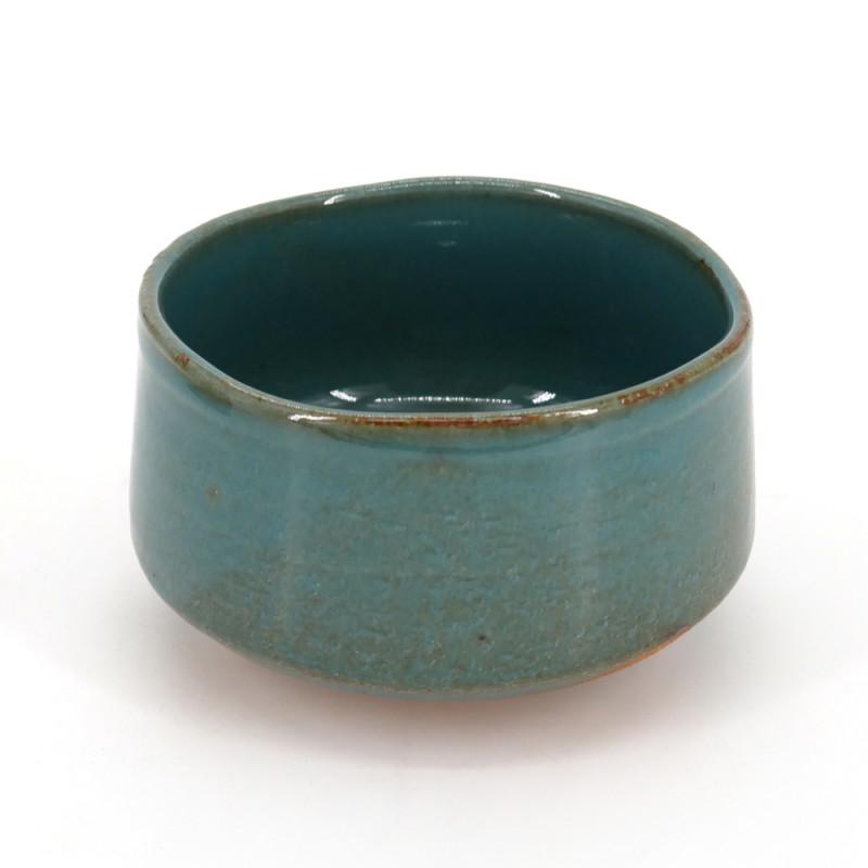 Japanese tea bowl for ceremony, BURU, blue