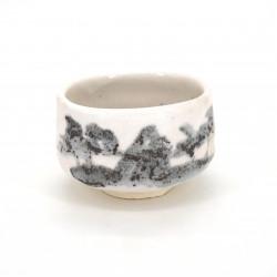Japanische Teeschale für Zeremonie, SHINOSANSUI, weiß