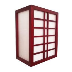 Lampe murale GURRIDDO japonaise rouge