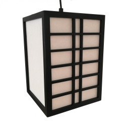 Japanese black ceiling lamp GURRIDDO