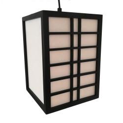 Lampe japonaise plafonnier noire GURRIDDO