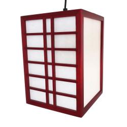 Lampe japonaise plafonnier rouge GURRIDDO