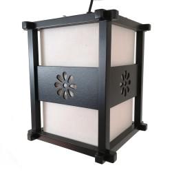 Lampe japonaise plafonnier noire IDO