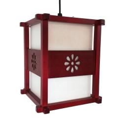 Lampe japonaise plafonnier rouge IDO