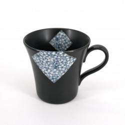 Taza de té japonés de ceramica, SAKURA, negro