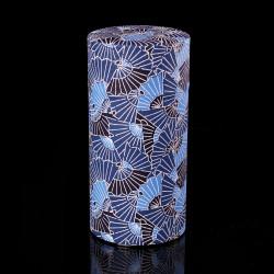Caja de té japonesa de papel washi, AIZOME SENSU, ventiladores