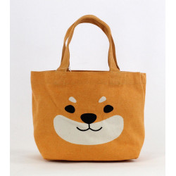 Japanese cotton tote bag, DOGHEAD, orange dog