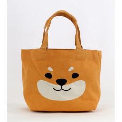 Sac Tote bag japonais en coton, DOGHEAD, chien orange