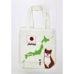 Bolso A4 size de algodón blanco japonés, MAP, japon