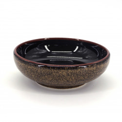 japanese bowl in ceramic Ø17x6,2cm NISHIKI black and gold