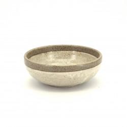 bol évasé japonais en céramique Ø17x6,2cm SHIRATSUYU, beige