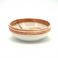 japanese bowl in ceramic Ø17x6,2cm HISUI white and orange