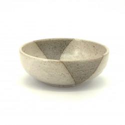 tazón de sopa japonés de cerámica Ø17x6,2cm, BEJI, beis