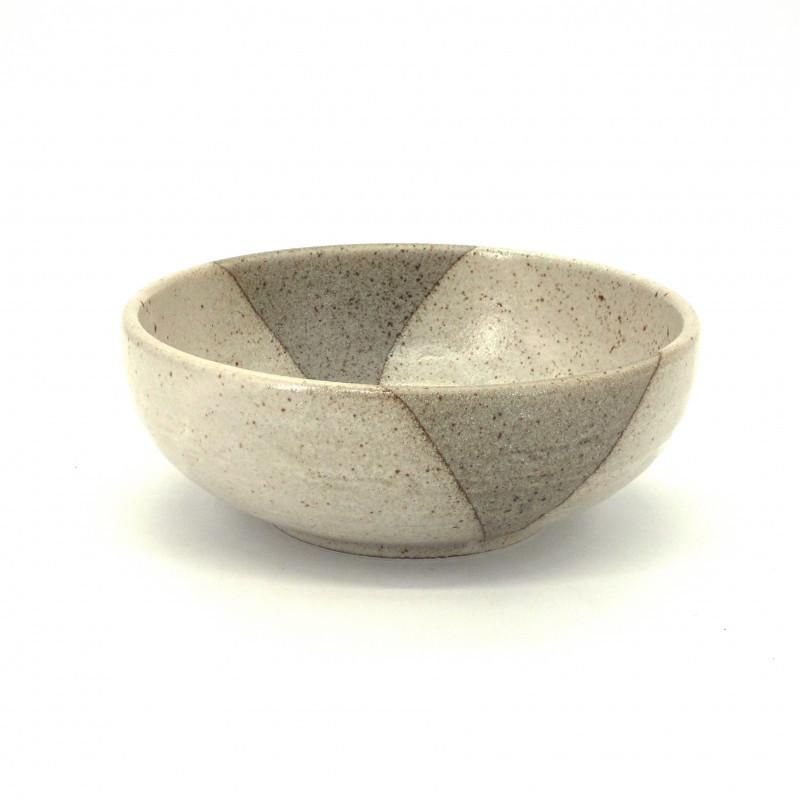 bol évasé japonais beige en céramique Ø17x6,2cm BEJI