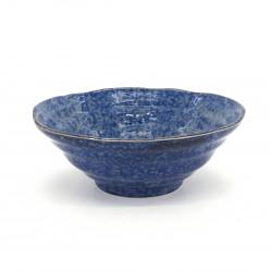 bol ramen japonais bleu en céramique BURU Ø18,3x7,5cm