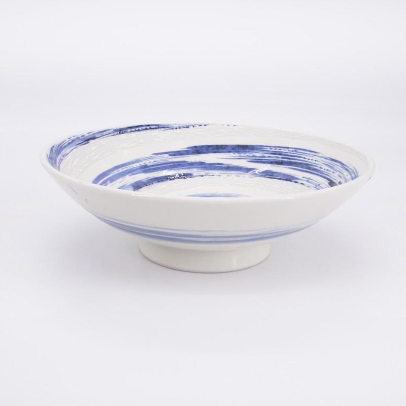 Japanese blue and white ramen noodles bowl UZUMAKI stream